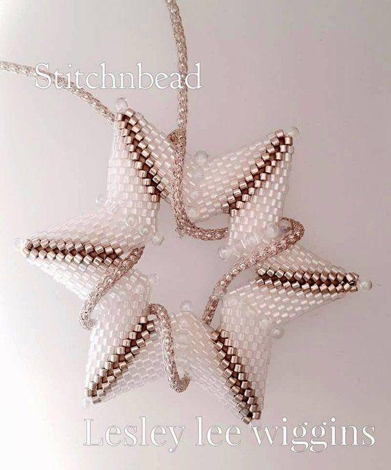 Beading Pattern Tutorial Beaded Star Miyuki Seed Beads Etsy