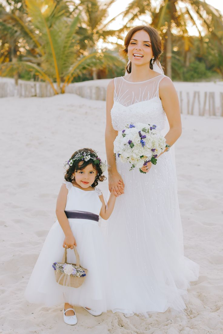 121 best beach wedding inspiration my wedding bodadanyygaby we used the belt fabric from the bridesmaid dress flower crown ombrellifo Choice Image