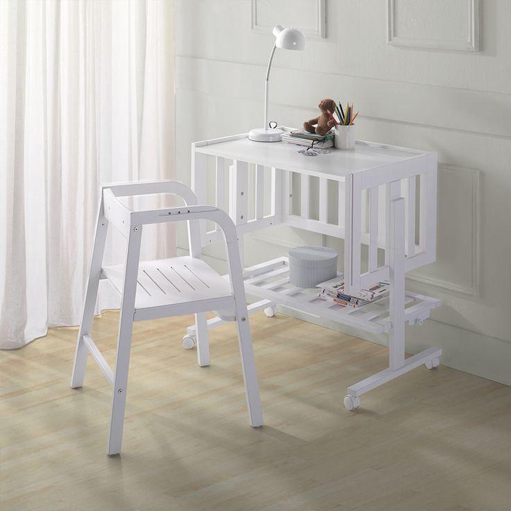 Cuna colecho de madera   micuna Transformable a escritorio. para seguir con el crecimiento de tu bebé. #mundopetit #chile #micuna
