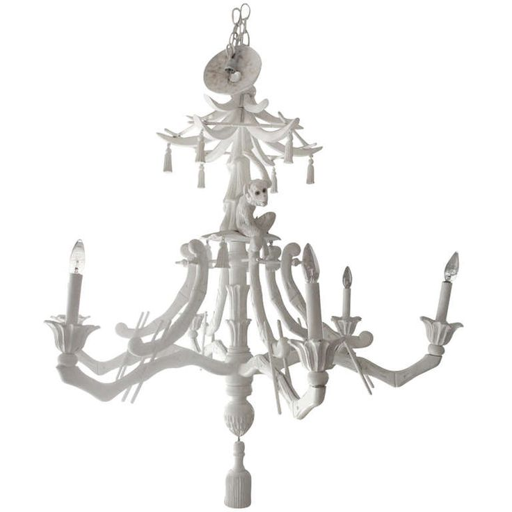 Chic Faux Bamboo Asian Monkey Chandelier | From a unique collection of antique and modern chandeliers and pendants  at http://www.1stdibs.com/furniture/lighting/chandeliers-pendant-lights/