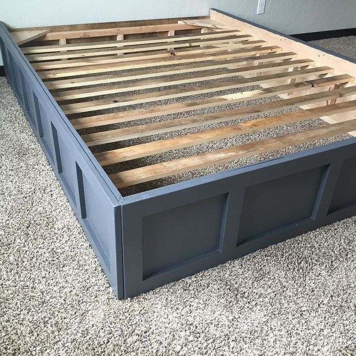 here is the picture of the bed frame setup i promised you queen size diy bedbox
