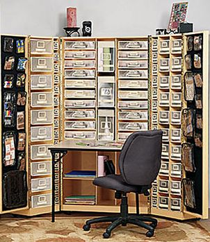 Very well organized scrapbooking area or beading area, a little expensive
