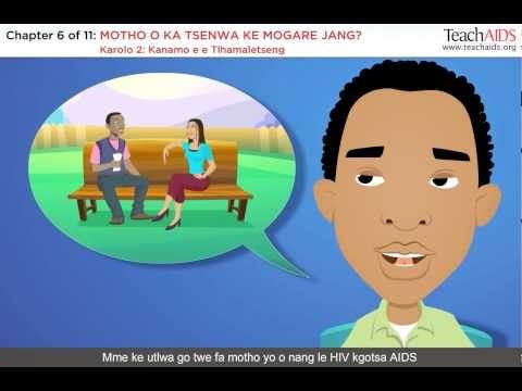 Setswana (Male Version) TeachAIDS animated tutorial.