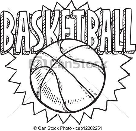 Cool basketball drawing Drawingsart Sports coloring