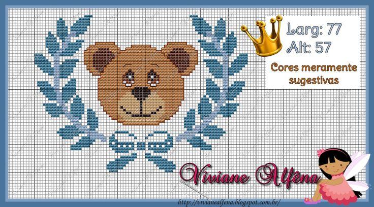 Viviane Alfêna - Gráficos e Bordados: Ursinho com Louros