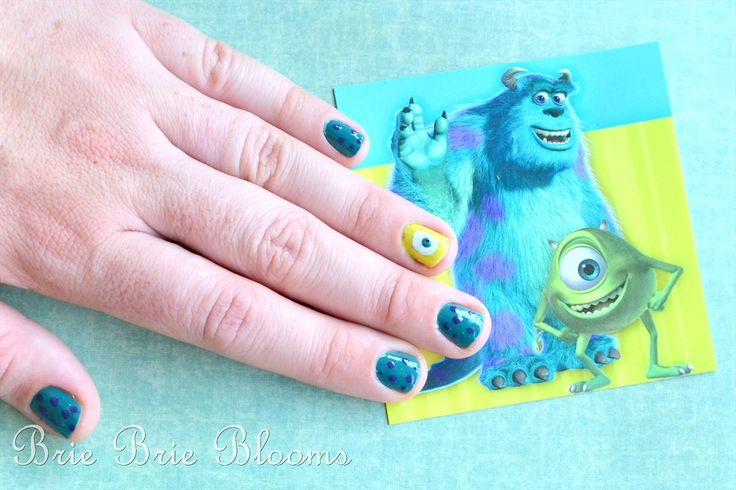 Adorable! Monsters University Nails from Brie Brie Blooms