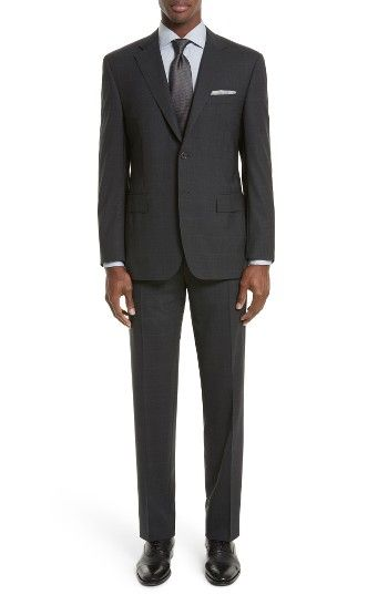 Free shipping and returns on Canali Classic Fit Plaid Wool Suit at Nordstrom.com. Handsome tonal plaid enriches a charming Italian suit crafted from tropical-weight super 130s wool and framed with crisp notch lapels.