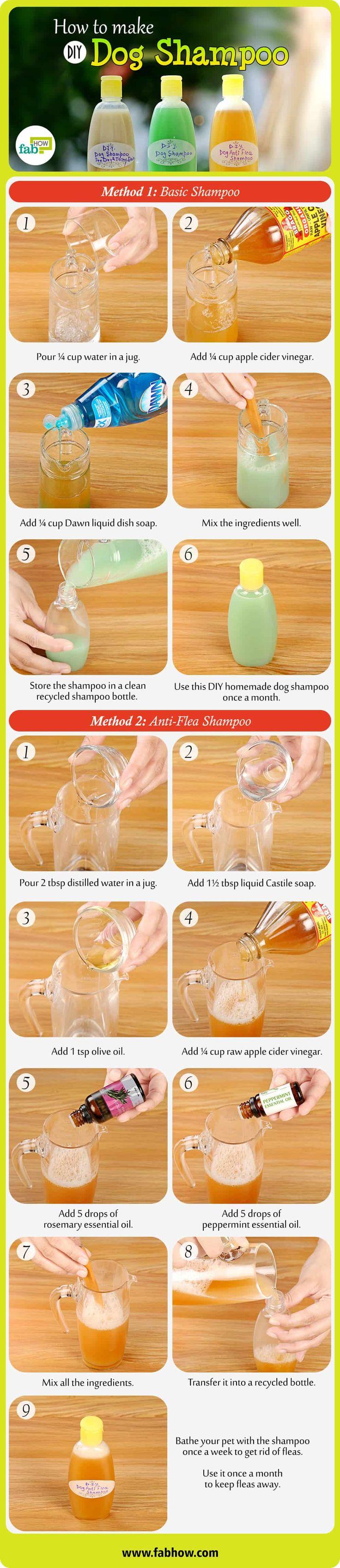 DIY Homemade Dog Shampoo Recipes summary