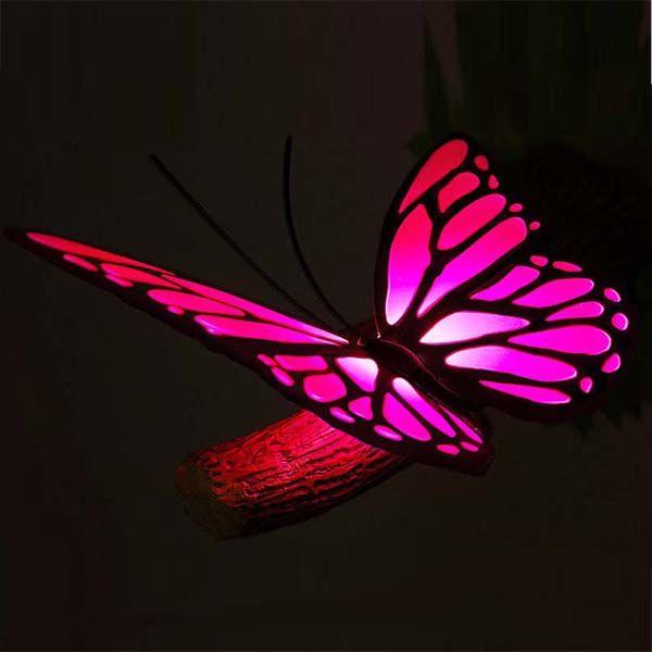 """3D-светильник """"Бабочка"""", розовый"""