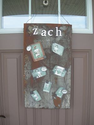 great idea...magnet board made from industrial piece of metal...might be better than a bulletin board in laundry room?