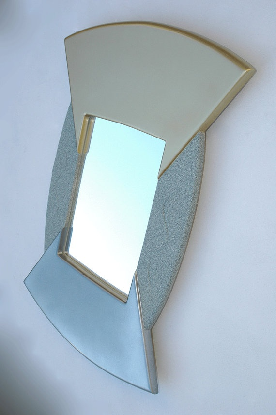 Decorative Abstract Wall Mirror in the shape of by funkymirrors.