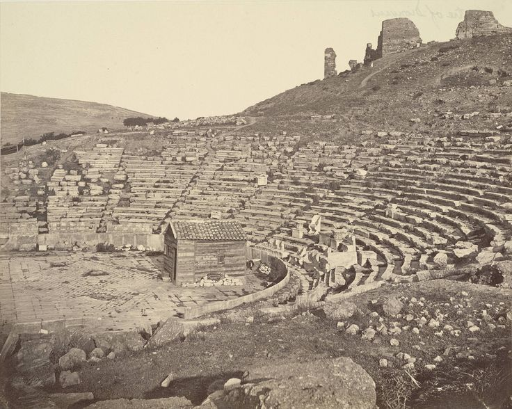 https://flic.kr/p/6B85nA | Theatre of Dionysos | Collection: A. D. White Architectural Photographs, Cornell University Library Accession Number: 15/5/3090.00025  Title: Theatre of Dionysos  Photograph date: ca. 1865-ca. 1895   Location: Europe: Greece; Athens  Materials: albumen print  Image: 8.0315 x 10.0394 in.; 20.4 x 25.5 cm  Style: Greek  Provenance: Transfer from the College of Architecture, Art and Planning  Persistent URI: hdl.handle.net/1813.001/5s81  There are no known U.S…
