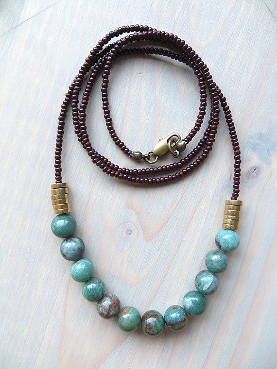 12 MOONS Strand Necklace Minimal Seed Bead by CrownAndCole on Etsy, 26.00 Dollars
