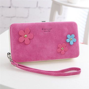 Women Flower 6.5 Inch Phone PU Wallet Case Cover Long Wallet Purse For Iphone6 P - US$15.99