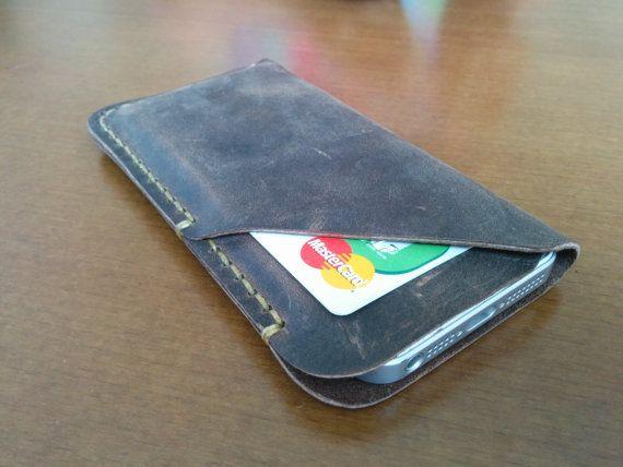 iPhone 5 Leather Case iPhone sleeve iPhone Wallet by HandmadeEK, $24.90