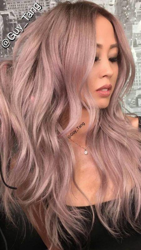 Silbrig Rose Gold Haarfarben Frisuren Und Haarfarben Ideen