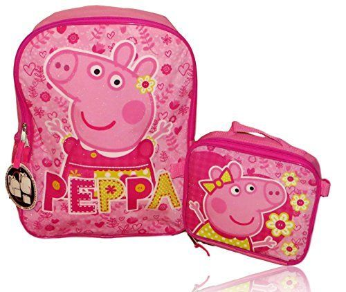 Peppa Pig Backpack with Detachable Insulated Lunch Box