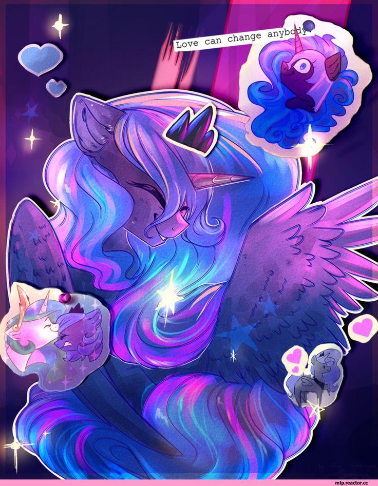 mlp art,my little pony,Мой маленький пони,фэндомы,Princess Luna,принцесса Луна,royal,Princess Celestia,Принцесса Селестия,Nightmare Moon,minor