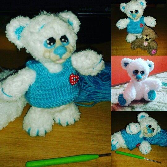Amigurumi crochet mywork handmade bear maroknyi maci horgolt játék