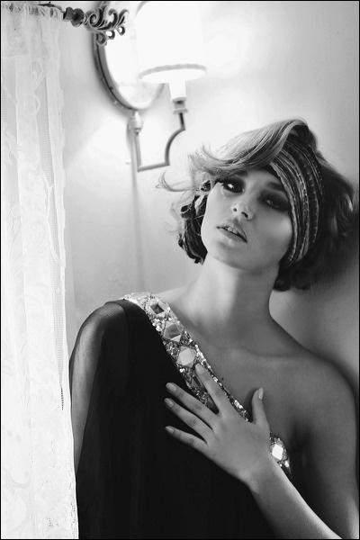Monique Leshman Black Glamour One Shoulder Dress