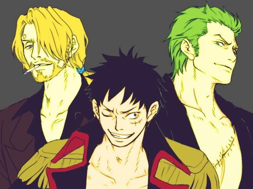 Adult monster trio : OnePiece One Piece Luffy And Zoro And Sanji