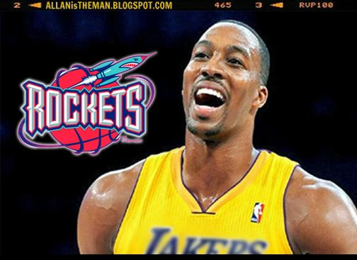 Dwight Howard left Los Angeles Lakers; joins Houston Rockets | http://allanistheman.blogspot.com/