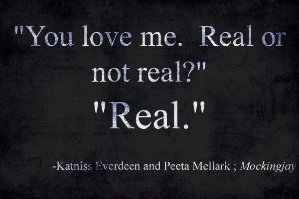 Spoiler Alert: Hunger Games-Real Love.