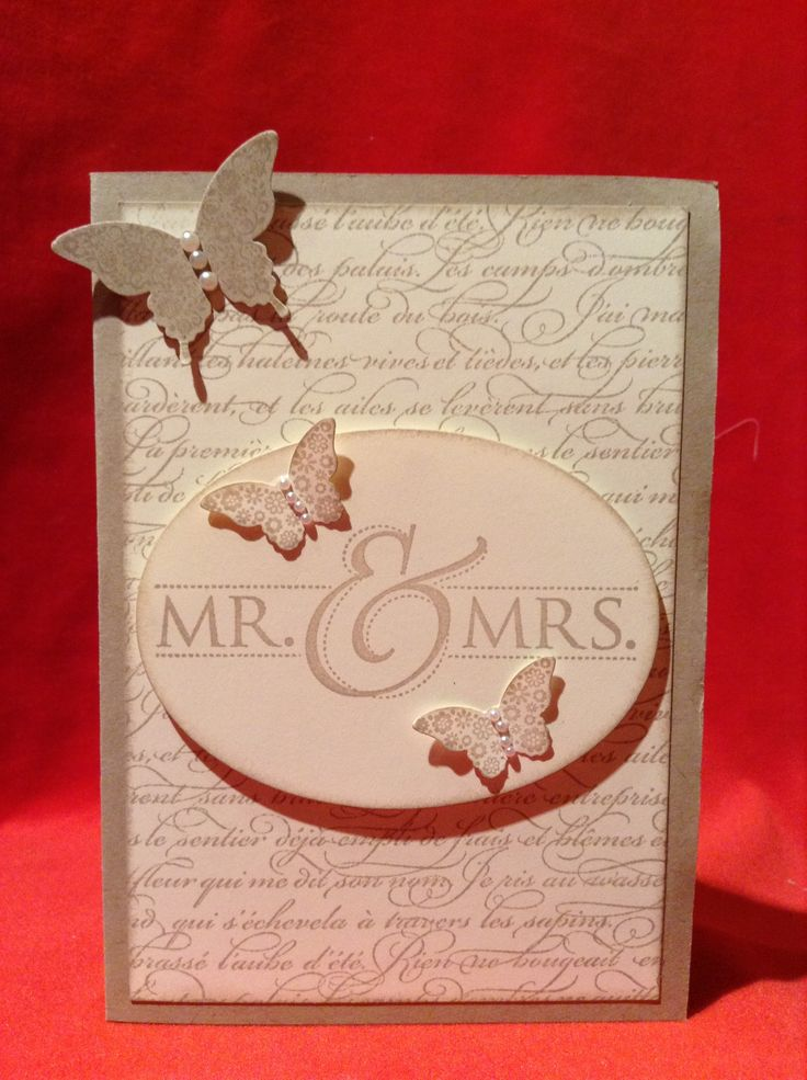 Stampin' Up ! Mr & Mrs