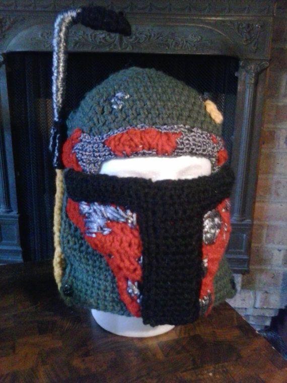 Crochet Boba Fett Face Mask by HandmadeByKaryn on Etsy, $65.00
