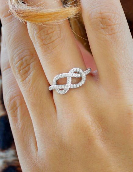 infinity - I am not a big jewelry person, but I absolutely love this ring.