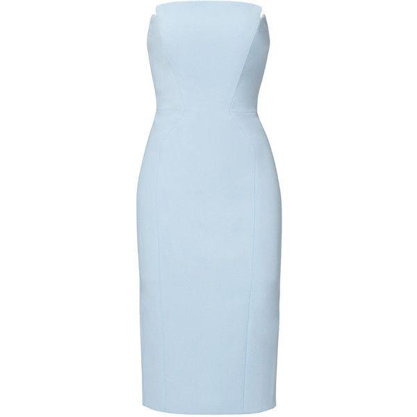Jill Jill Stuart Blue Harlow Dress ❤ liked on Polyvore featuring dresses and blue dress