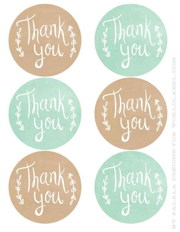 Thank You printable labels