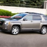 2012 GMC TERRAIN  MSRP: $34,772  After spending a week with the GMC Terrain, I'm changing my mind about SUVs and crossovers. This one is comfy – dare I say luxurious – and carries its weight like a beautiful, plus-size model.