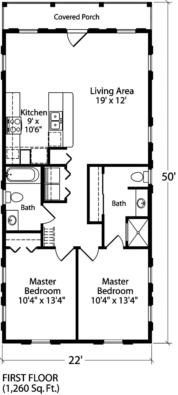82 best 2 bedroom floorplan images on pinterest small for 2 bedroom guest house plans