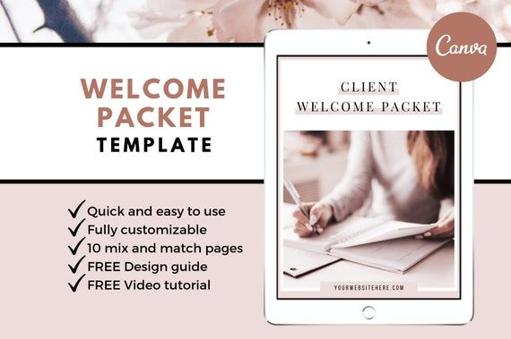 This Welcome Packet Template Is The Perfect Way To Welcome Clients And Set Boundaries Within Your Service Welcome Packet Client Welcome Welcome Packet Template