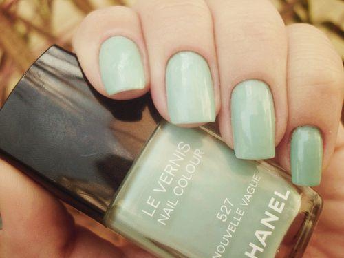 Blue Green Mint Chanel Nail Polish Color