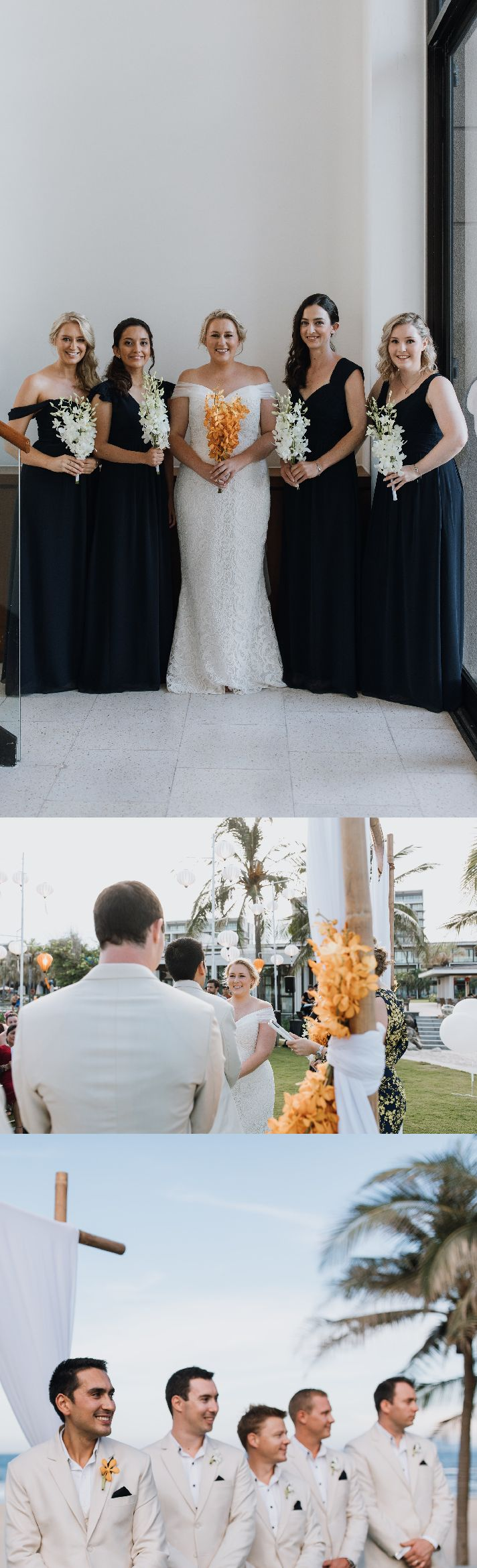 Keeping it simple and elegant by using  tropical orchids in your favourite bold colour#weddingflowers #weddingdesign #vietnambeachweddings #hoianeventsweddings #rusticwedding #beachwedding #destinationwedding photos by the talented @StudioSomething  See the full album: https://studiosomething.pixieset.com/ketrahrob/may11/
