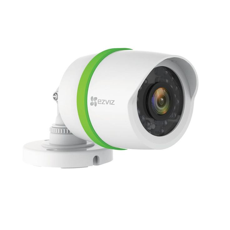 EZVIZ 720p Single Bullet Camera for Home Security System with 100 ft. Network Cable