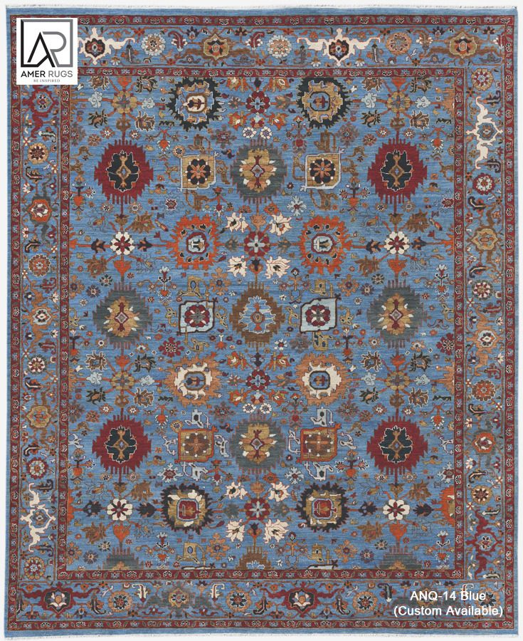 Antiquity Anq 14 Blue Amer Rugs Rugs Hand Knotted Rugs Wool Rug