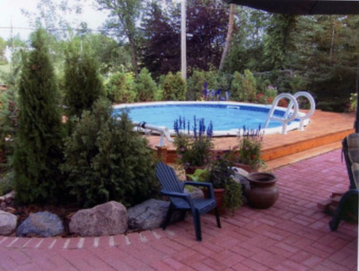 Best 25 best above ground pool ideas on pinterest above for Pool landscaping ideas on a budget