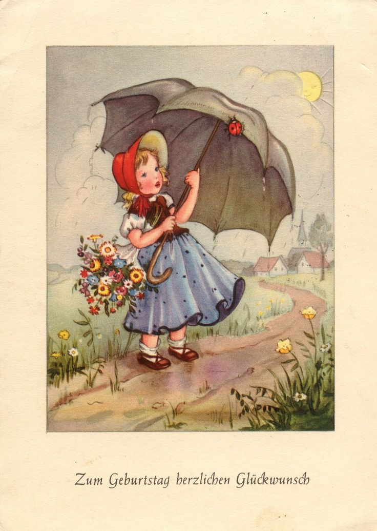 17 best images about artist illustration zeichner maler for Vintage geburtskarten