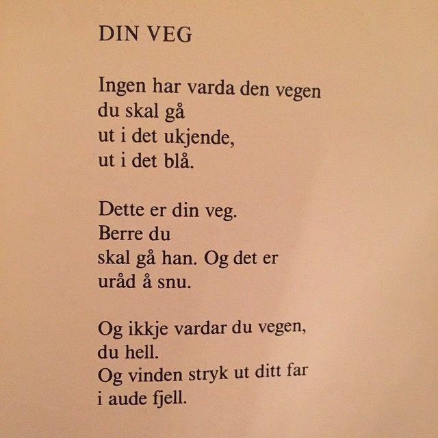 Av Olav H. Hauge #olavhhauge