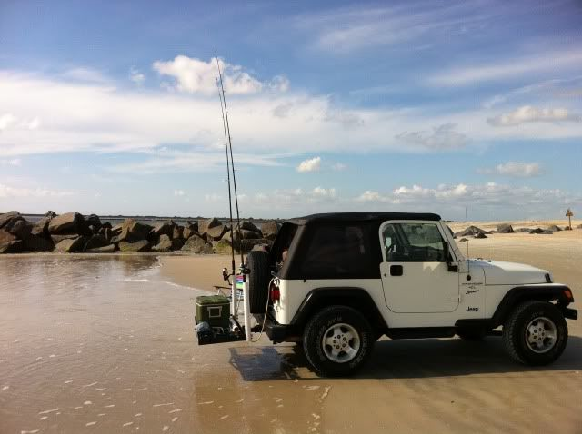 Jeep wrangler fishing rod rack google search fishing for Jeep fishing rod holder