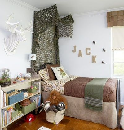 Camo themed rooms and bed ideas on pinterest for Hunting themed room for boys