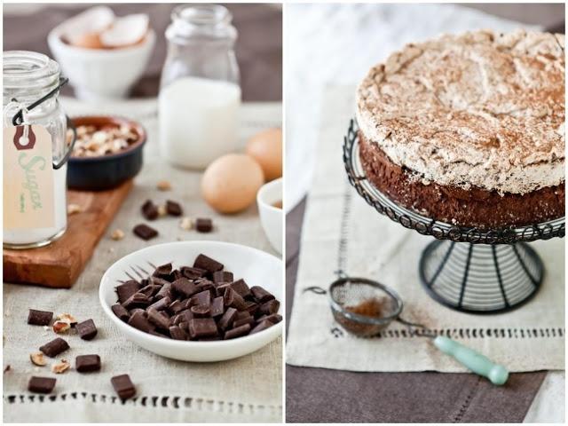Chocolate and Hazelnut Meringue Cake | Cakes Aesthetics | Pinterest