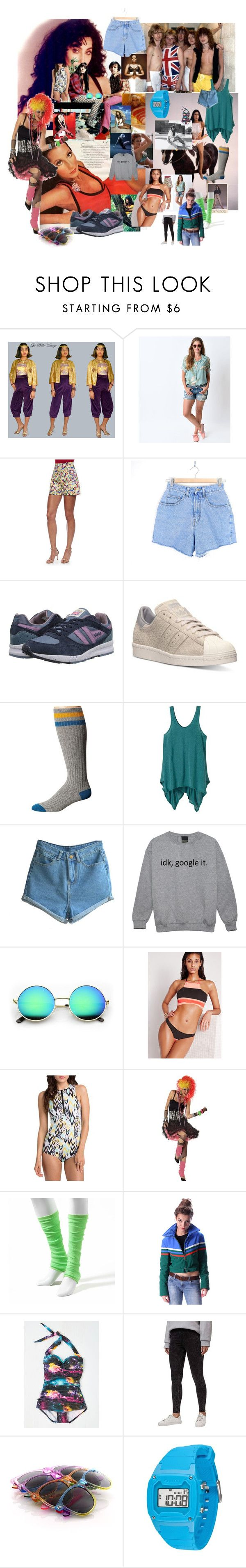 """Untitled #34"" by xaxa-szasza on Polyvore featuring Versace, Carolina Herrera, Gola, adidas, Volcom, prAna, Missguided, Billabong, Esther Williams and Topshop"
