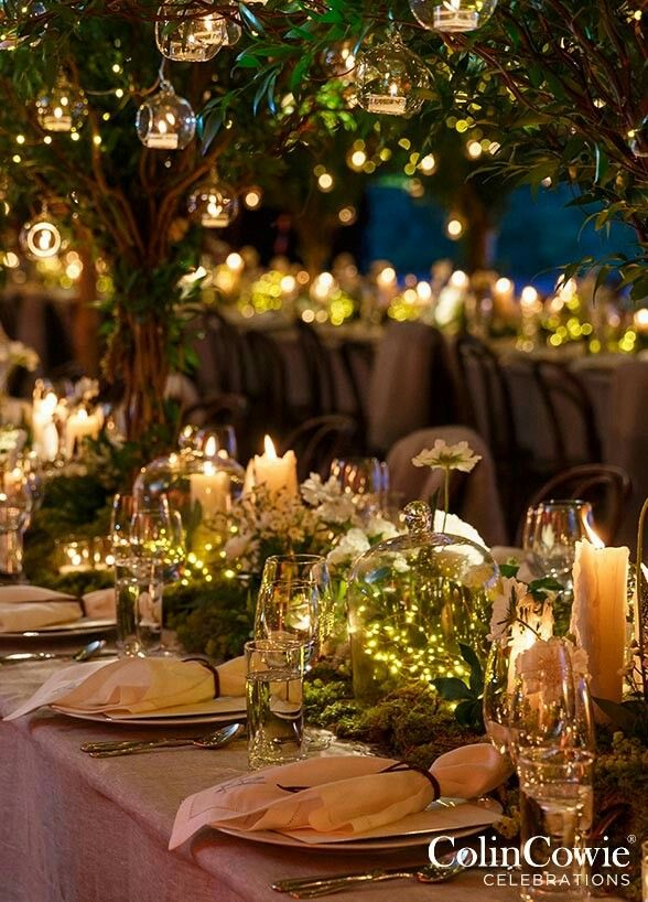 Ethereal Fairy Lights Delicate fairy lights placed inside of bell jars or terrariums bring a touch of whimsy to any table setting. Your event will feel absolutely magical with the addition of these twinkling lights.