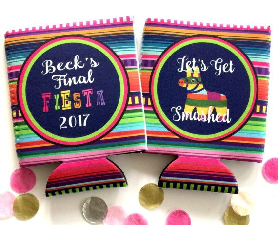 Fiesta Party Huggers. Fiesta Vacation Coolies. Mexican Pinata