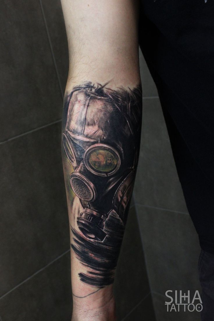 44 best gas mask tattoos collection - By Mocho At Siha Tattoo Barcelona Gas Masksgas