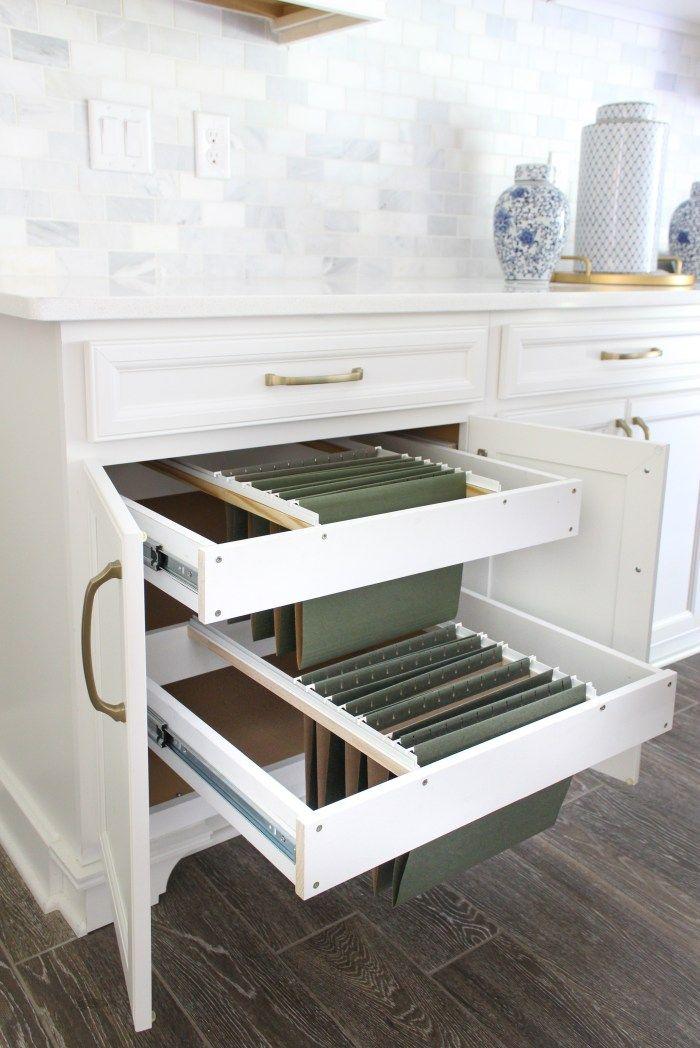 Diy Hanging File Drawer In Kitchen Cabinet Diy File Cabinet